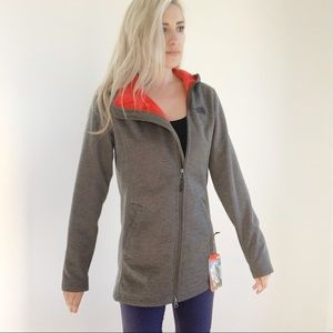 The North Face Fleece Lined Long Taupe Jacket New